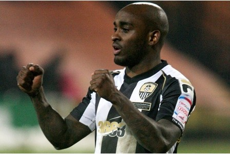 SPORT REPORTER: James Pallett Notts County v Sheffield United at Meadow Lane County's Jamal Campbell-Ryce applauds the crowd at the end of the game PHOTOGRAPHER: DUSTIN MICHAILOVS REF: NODM20130119A-053_C