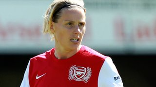 Arsenal Ladies club captain and player/coach Kelly Smith