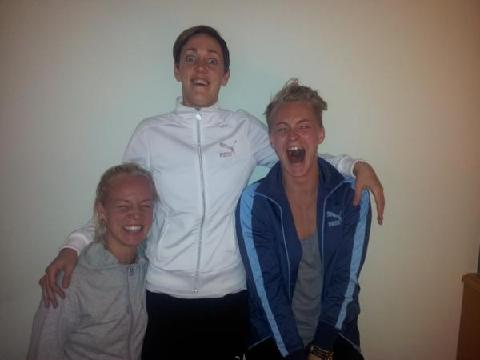 Photo: (From left to right) Caroline Seger, Therese Sjögran and Nilla.