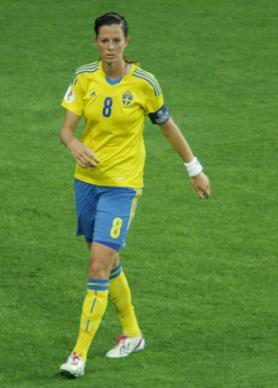 Sweden's Lotta Schelin