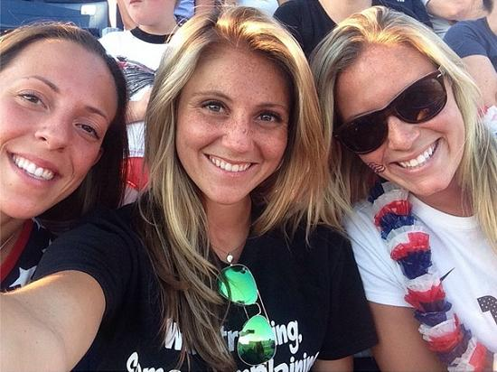 SoccerGrlProbs (from left to right): Alanna Locast, Carly Beyar, and Shannon Fay.