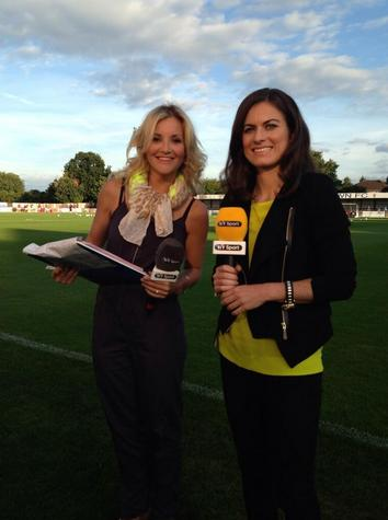 Helen Skelton-Myler alongside Karen for BT Sport. @karenjcarney