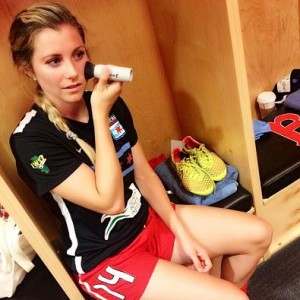 Lindsay's former teammate Taryn Hemmings, co-founder Sweat Cosmetics.