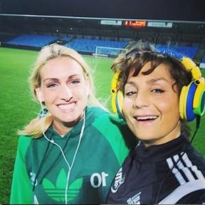 Nadia with Denmark forward Camilla Kur-Larsen in their time at Fortuna Hjørring. Instagram: @nadi9nadim