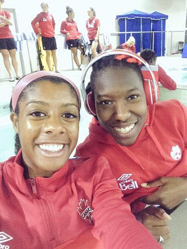 Ashley (left) with long-time teammate and close friend Kadeisha Buchanan. @A_Lawrence99