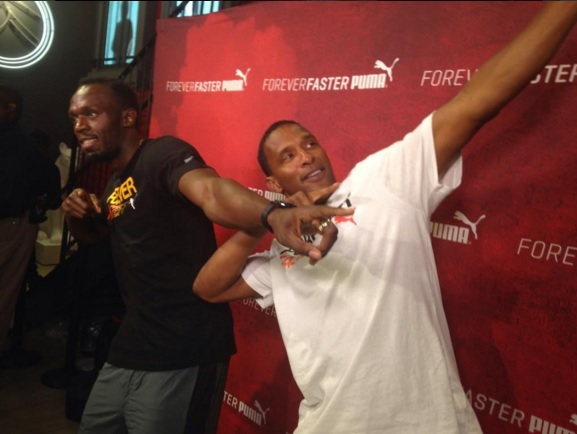 Usain Bolt alongside Shaka
