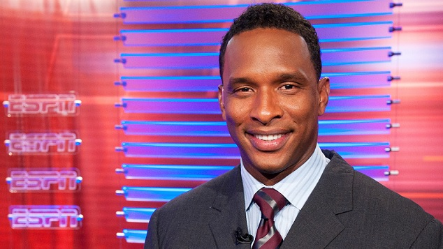 Former Premier League goalkeeper Shaka Hislop in his current role as an ESPN Soccer analyst.