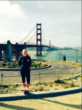 At San Francisco's Golden Gate Bridge last year.