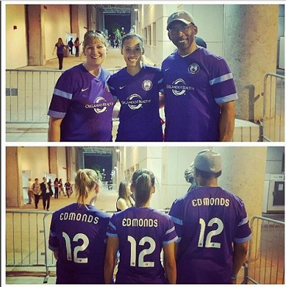 Kristen's parents join her for her home opener with Orlando this year. @kris10edmonds