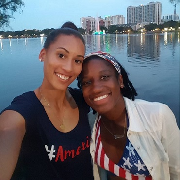 Jasten: Kristen (left) alongside long-time teammate and partner in crime, Jasmyne Spencer. @kris10edmonds